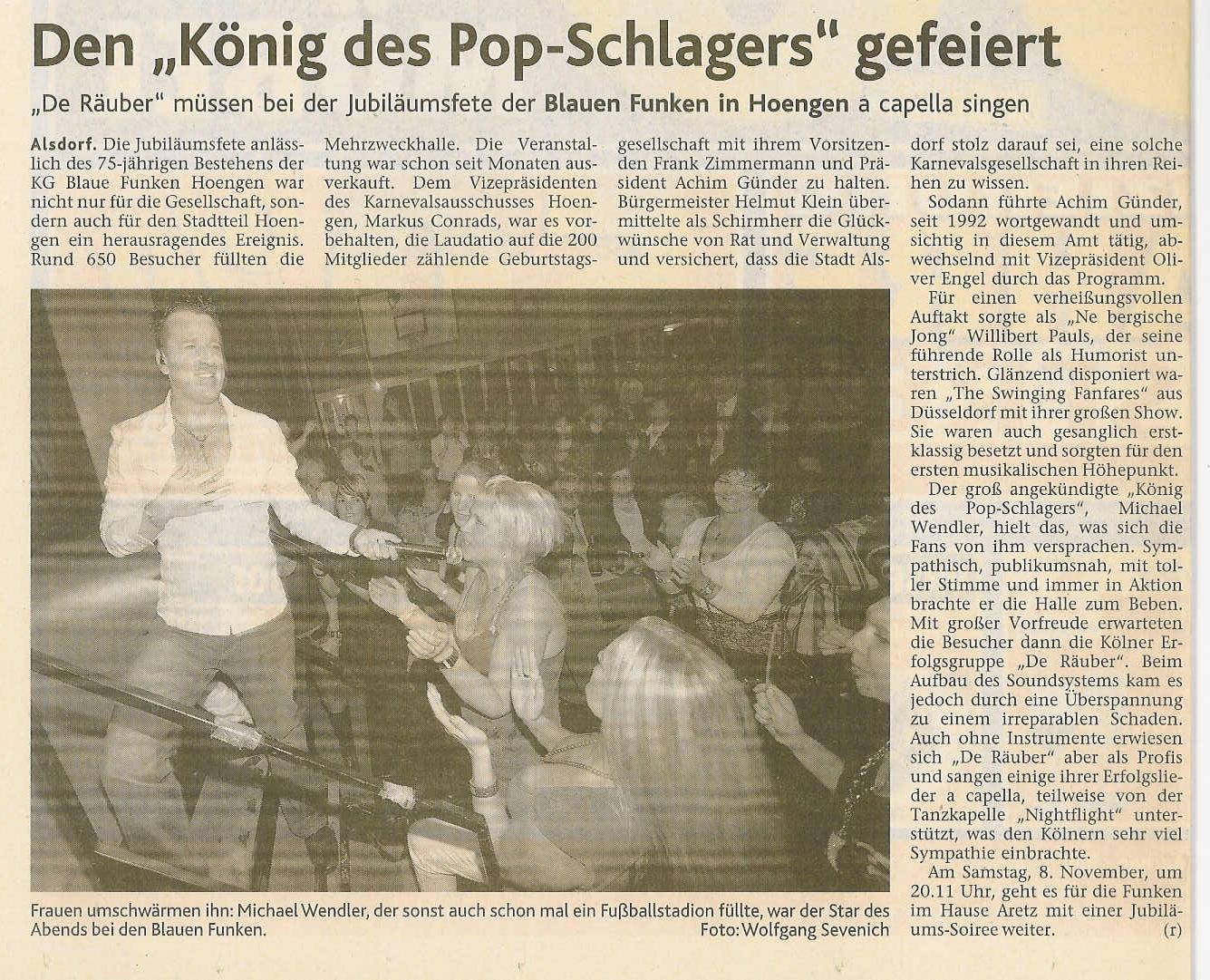 Aachener Nachrichten vom 31.10.2008