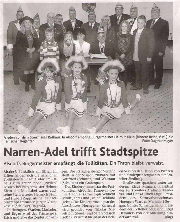 Aachener Nachrichten vom 19.11.2008
