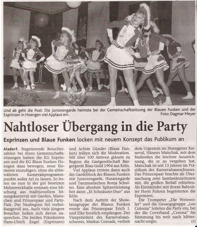 Aachener Nachrichten vom 03.02.2009