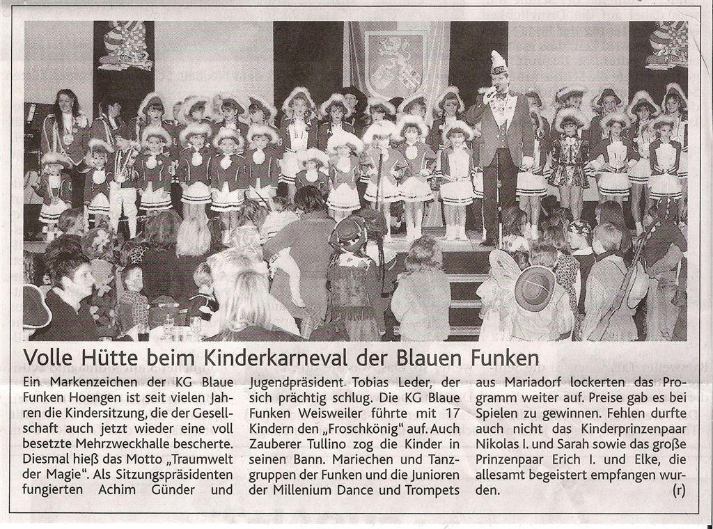 Aachener Nachrichten vom 07.02.2009