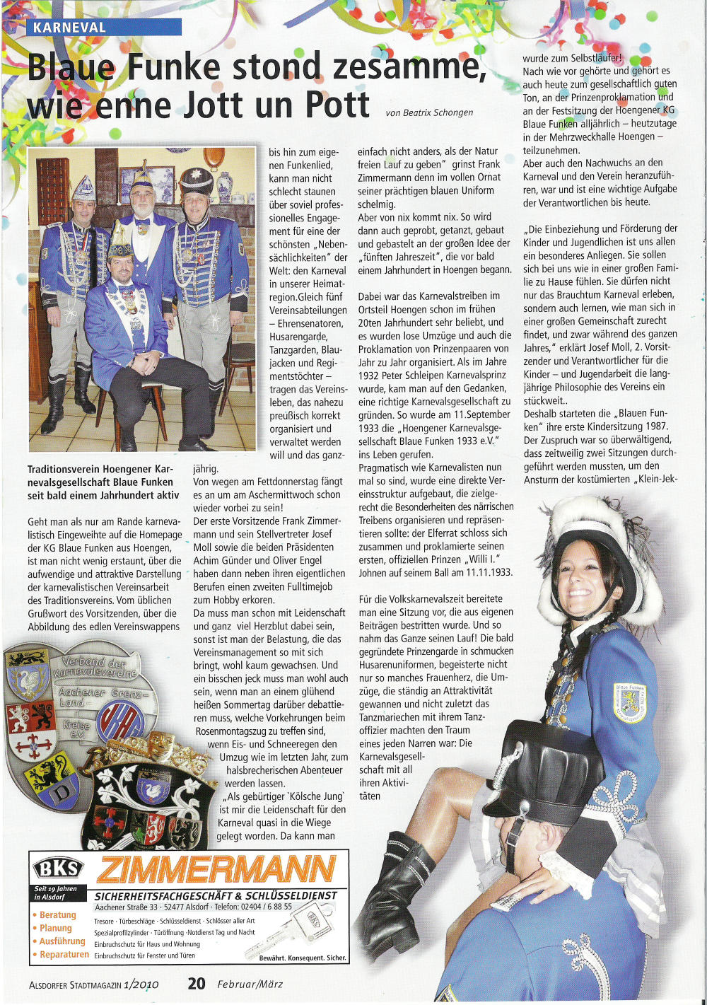 Stadtmagazin Und sonst?! Ausgabe 1/2010 Seite 20