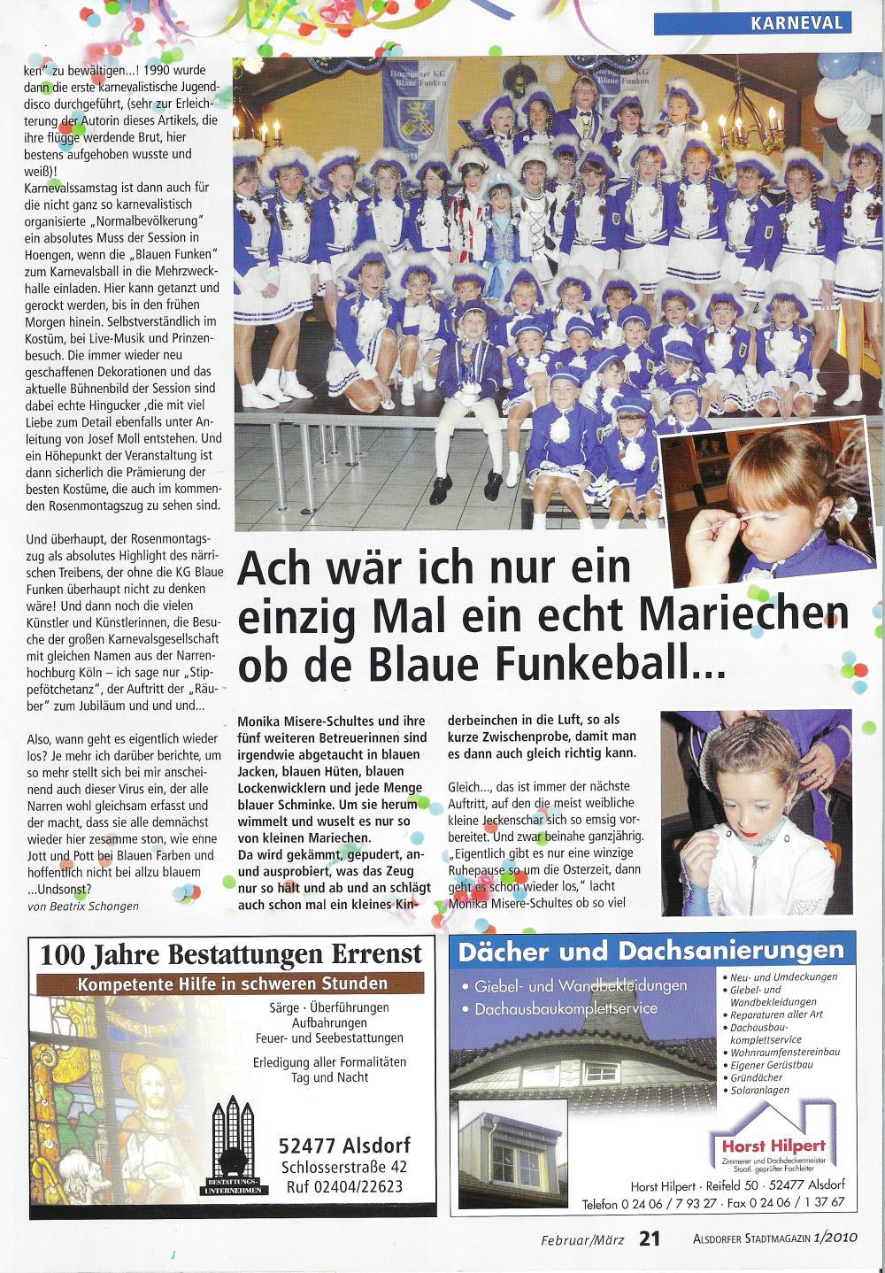 Stadtmagazin Und sonst?! Ausgabe 1/2010 Seite 21