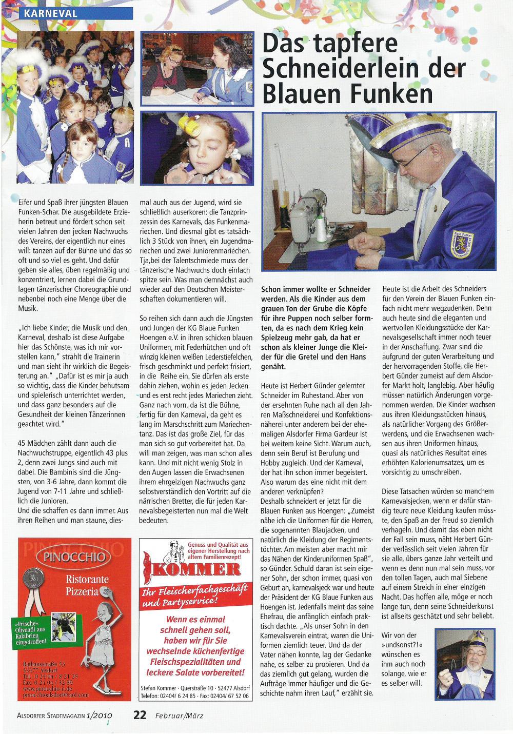 Stadtmagazin Und sonst?! Ausgabe 1/2010 Seite 22